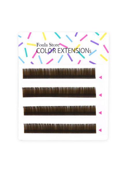 Color Lashes 4 Lines Khaki Brown