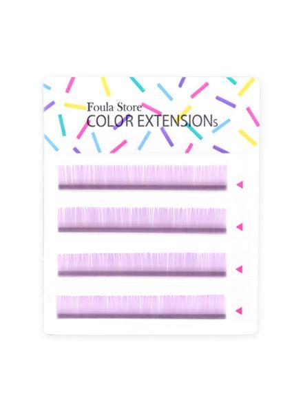 Color Lashes 4 Lines Pastel Purple