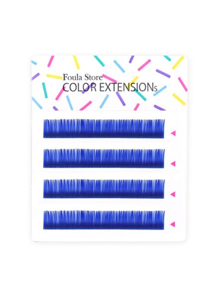Color Lashes 4 Lines Blue