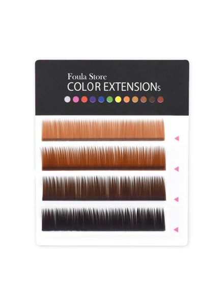 Color Lashes 4 Lines Brown MIX