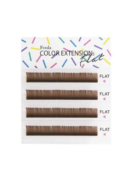Color Flat Lash 4 Rows Sheet Light Brown